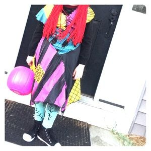 Sally S Costume Wig Tights Nightmare B4 Christmas